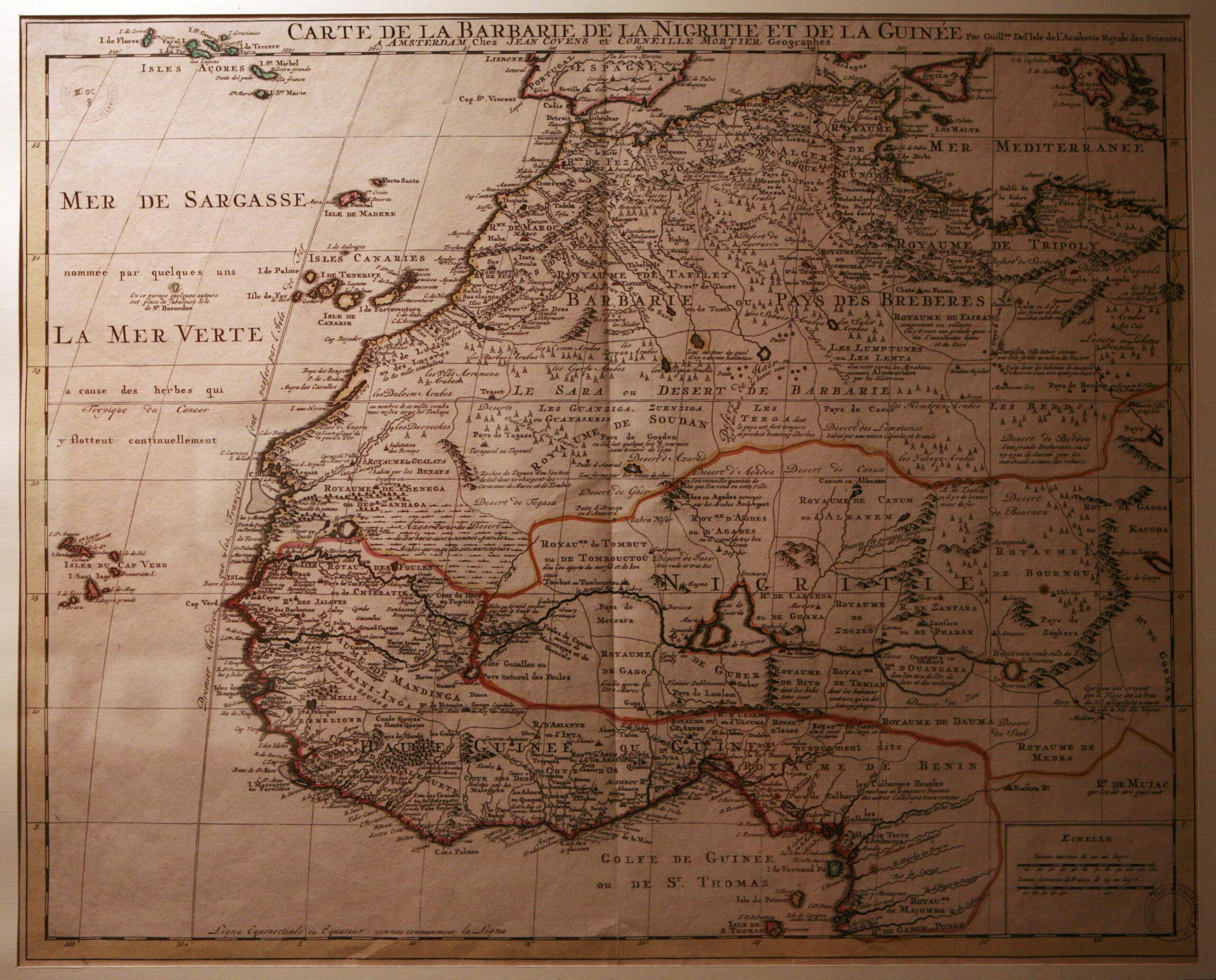 Carte de la Berbérie