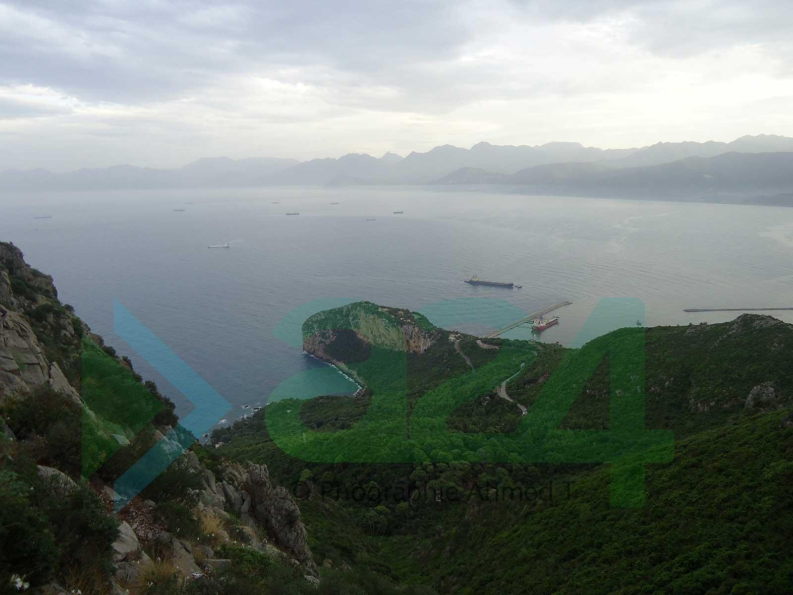 Vue panoramique de la baie de Bgayet - Kabylie