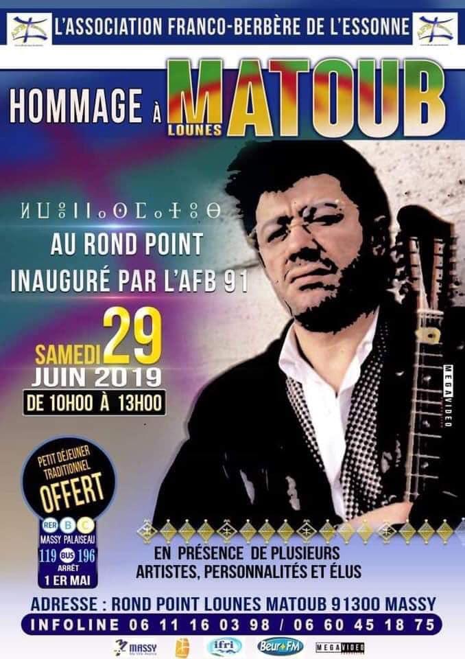 Hommage à Matoub dans l'Essonne
