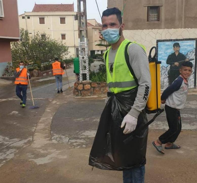 Opération de désinfection espaces publics